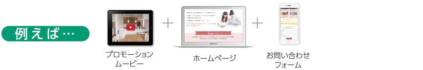 プロモーションムービー+ホームページ+お問い合わせフォーム