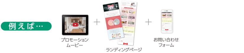 プロモーションムービー+ランディングページ+お問い合わせフォーム